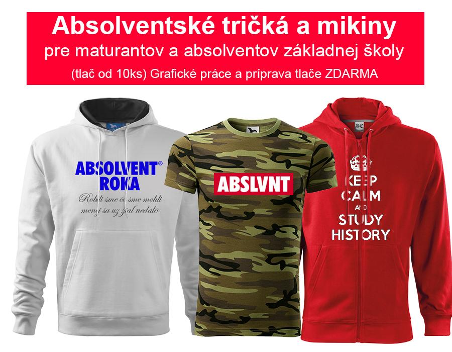 0c052a15981 Absolventské tričká pre absolventov základných a stredných škôl. - KAHI.sk